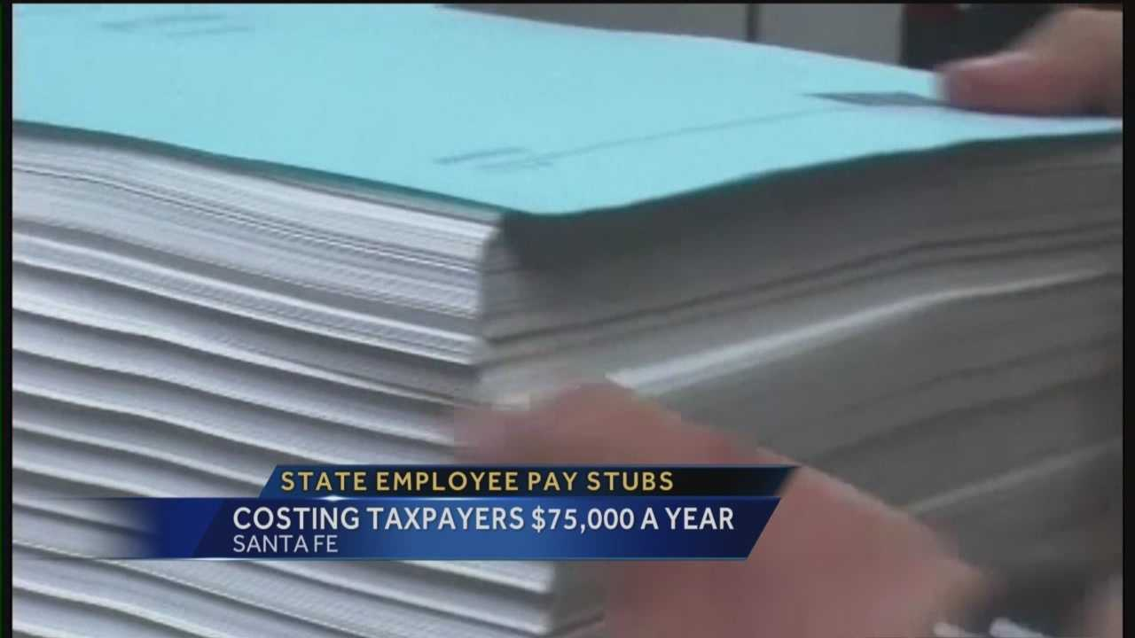 If the state would stop printing and mailing pay stubs to employees it would save you tens of thousands of dollars.