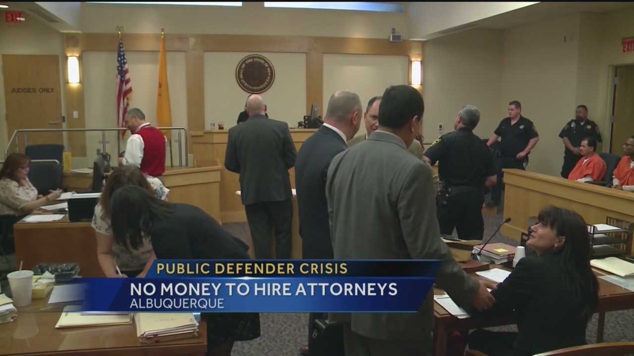 The state's top public defender said his office is in crisis, and with no money in his budget, people may not be able to get a lawyer to represent them in court.