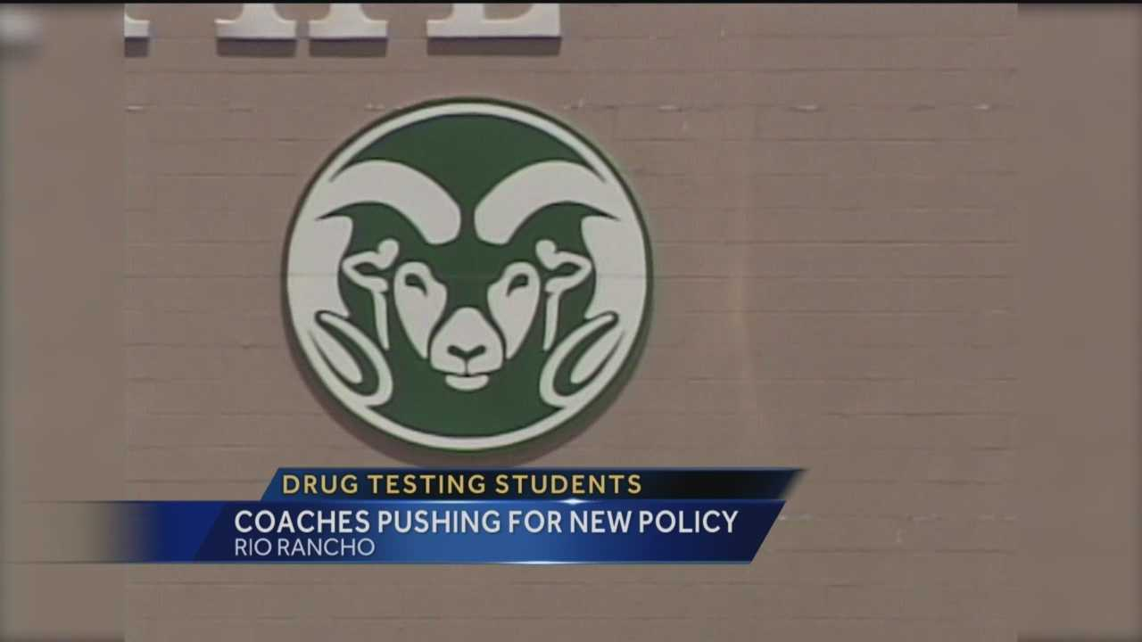 Drug testing in high school is a controversial topic, but Rio Rancho is looking at putting a policy on the books.
