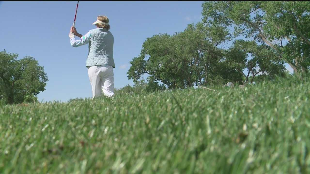 Gena loves to golf, and this Thursday and Friday she played in the Albuquerque Fairway Frolics.