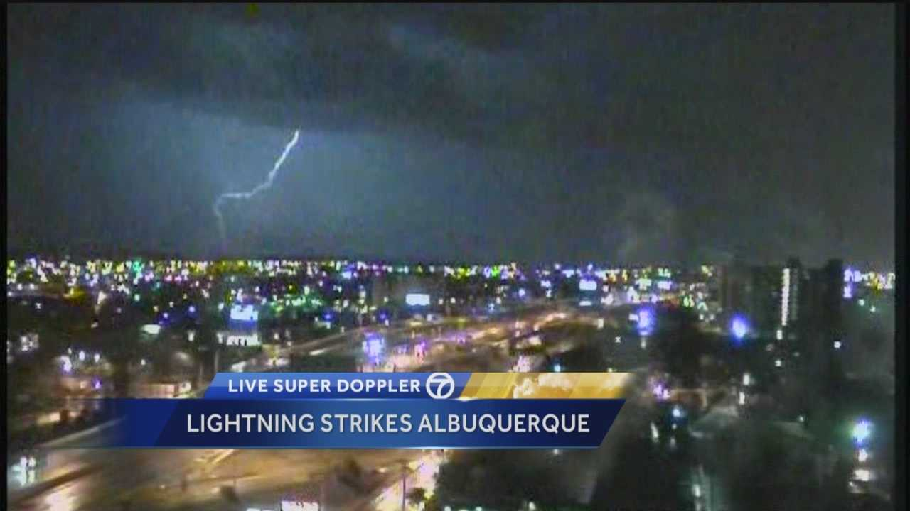 Lightning lit up the sky throughout the New Mexico overnight.