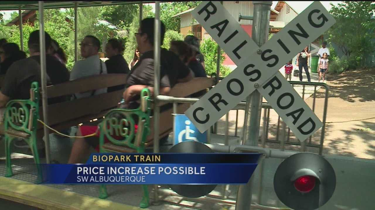 It may cost a little more to ride the train at the BioPark if one group has its way.