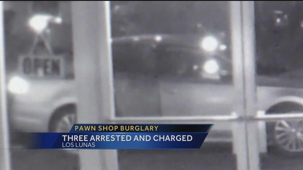 3 people are now charged for burglarizing a pawn shop in Los Lunas making off with dozens of guns and ammo.