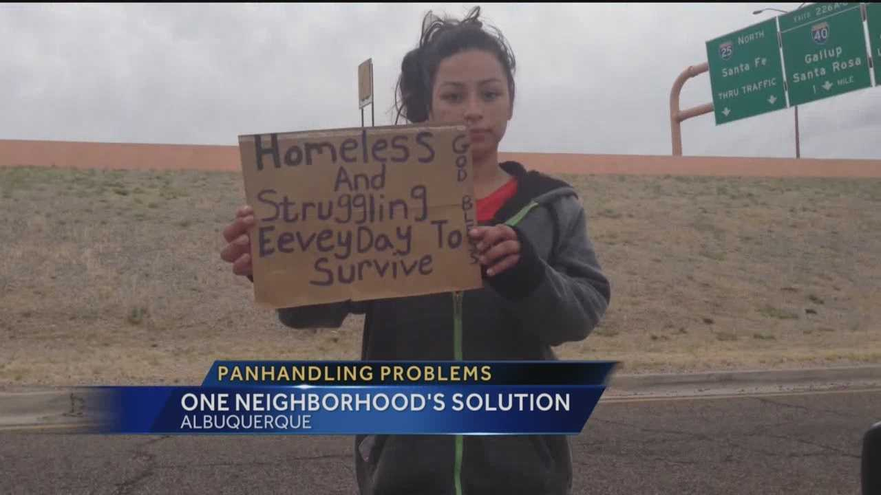 While driving around Albuquerque you've no doubt noticed the panhandling problem.