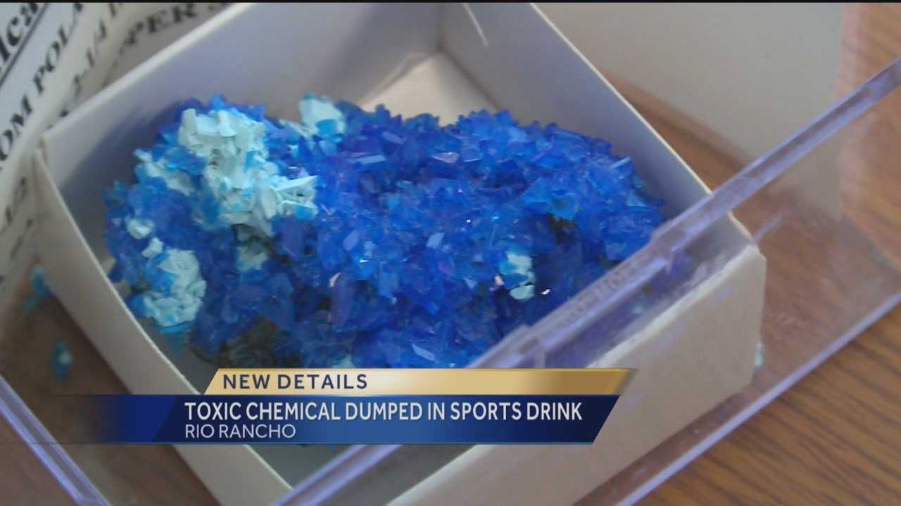 Students who offered a toxic chemical disguised as a sports drink to their classmates may face criminal charges.