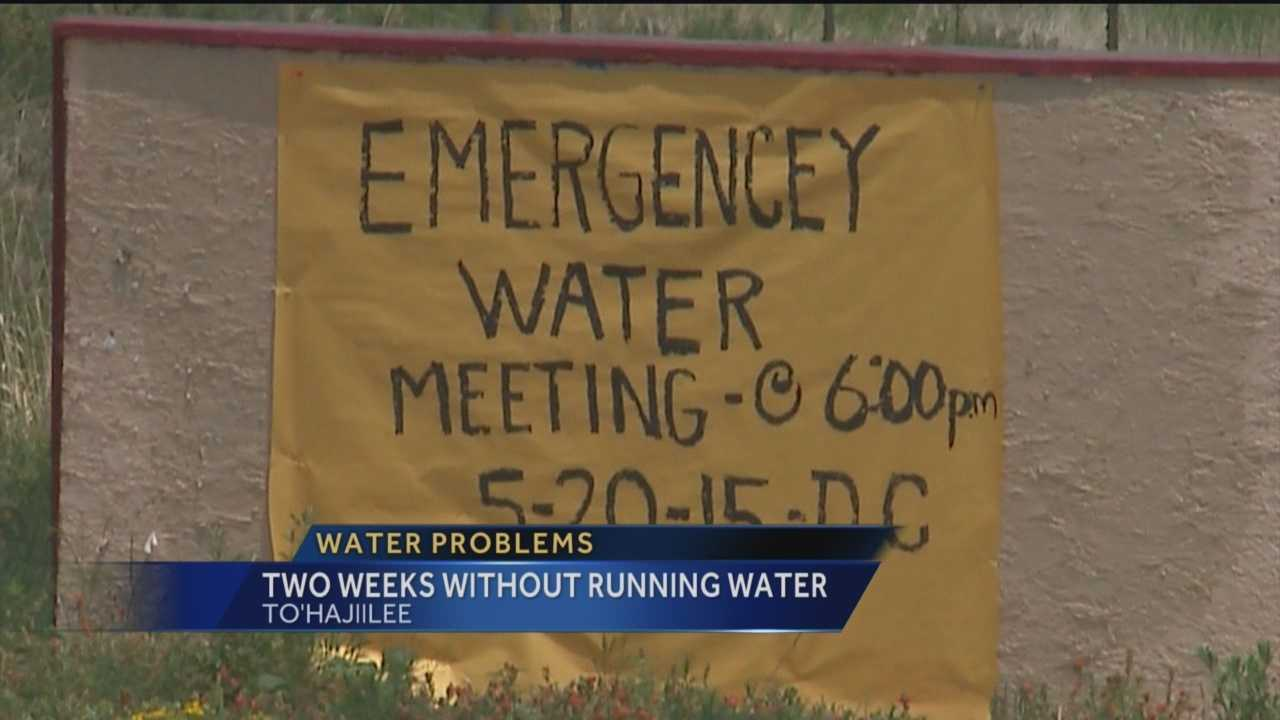 People in To'Hajiilee are going on two weeks without water. Reporter Sandra Ramirez has the story.