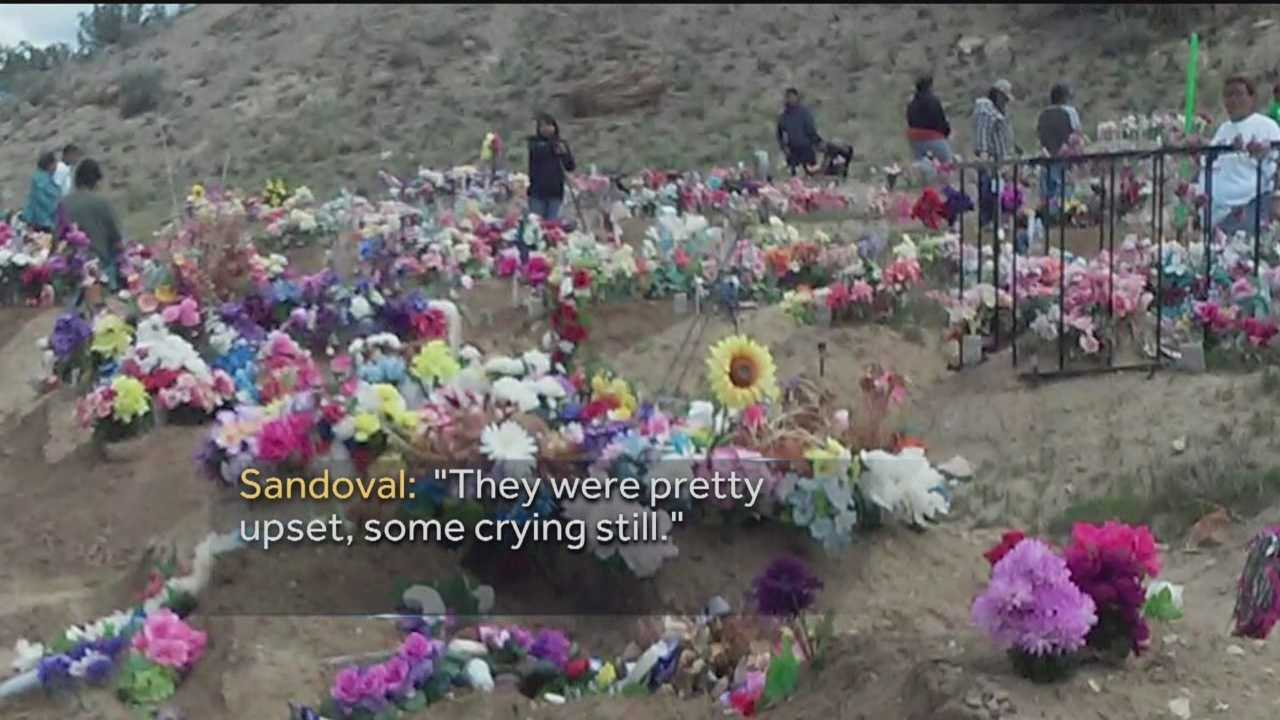 People who were visiting loved ones in Torrance County saw broken statues, toppled headstones and flowers thrown everywhere.