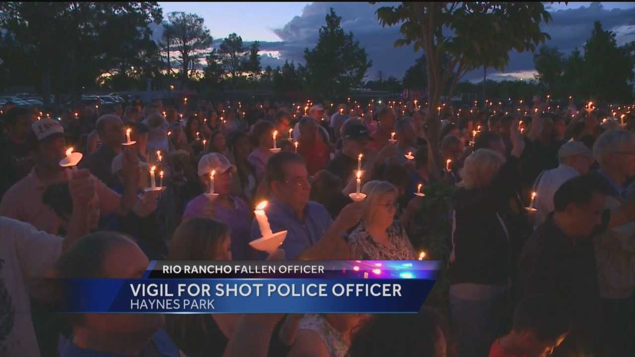 Rio Rancho police said 49-year-old Officer Gregg Benner was shot and killed during a traffic stop Monday night.
