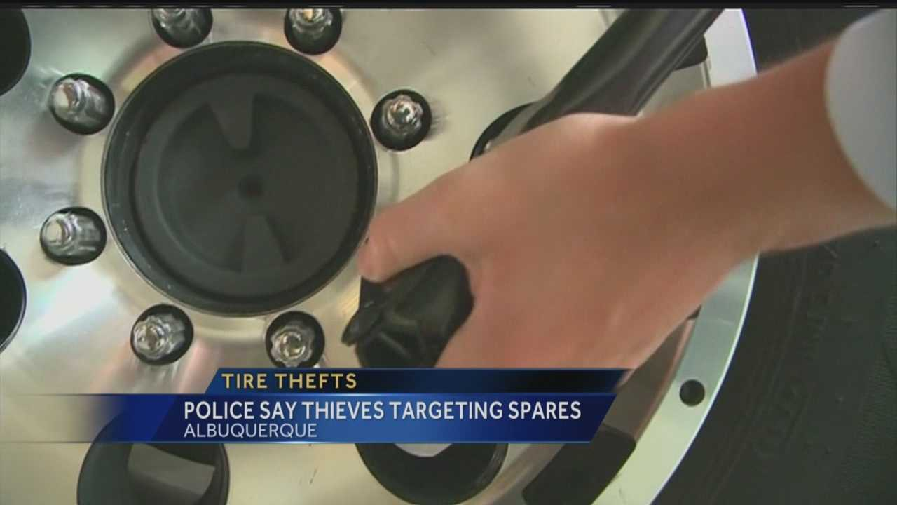 Truck and SUV owners are common targets for thieves, according to police, because their spare tires are easily accessible.