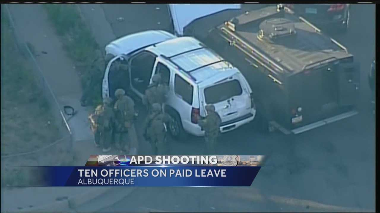 It was a dramatic scene in southwest Albuquerque Thursday when officers surrounded a white SUV with their guns drawn.