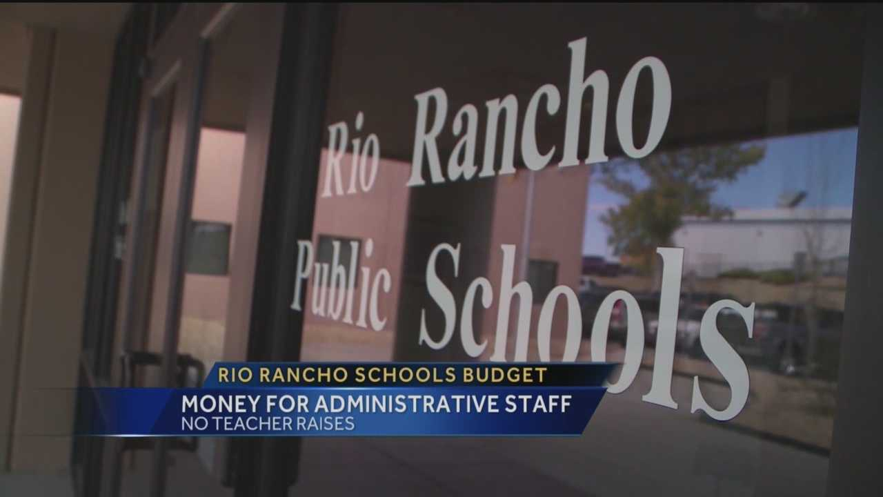 Not everyone is happy about where some of the Rio Rancho School District's money is going.