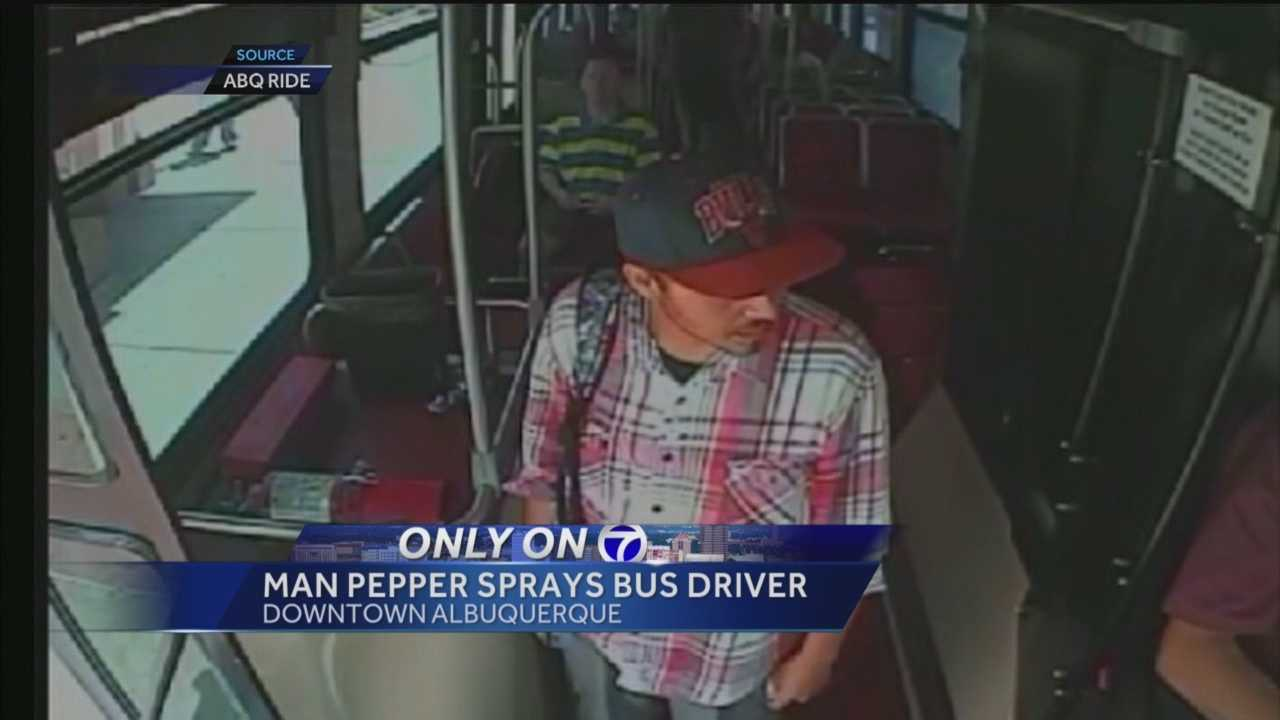 Police are looking for a man they say used pepper spray on a city bus driver last Friday.