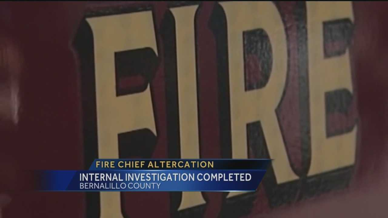 Two Bernalillo County fire chiefs got into a physical altercation on the job last month, but it remains unclear whether they'll be disciplined.