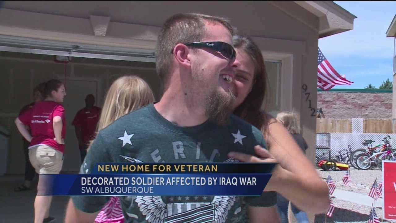 Tuesday was moving day for an Army veteran and his family, and the soldier didn't have to spend a cent on his new home.