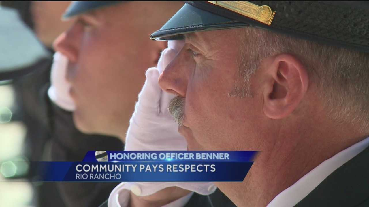 Mourning alongside Officer Gregg Benner's family and friends were people who never met him.