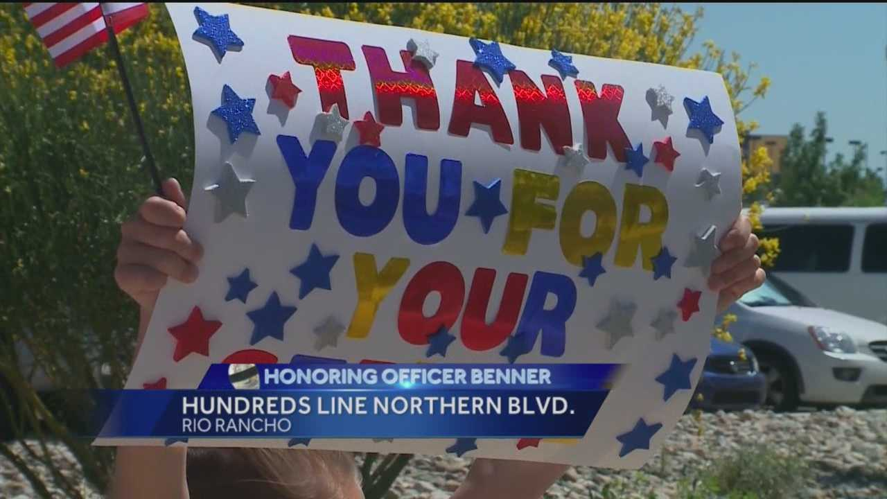 Rio Rancho residents gathered to say goodbye to a fallen officer.