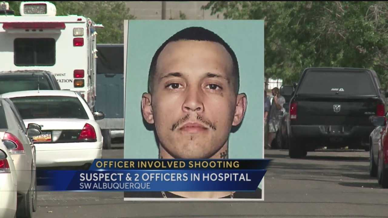 An Albuquerque police officer fired his weapon at a suspect that rammed at least two undercover officers with a car Thursday.