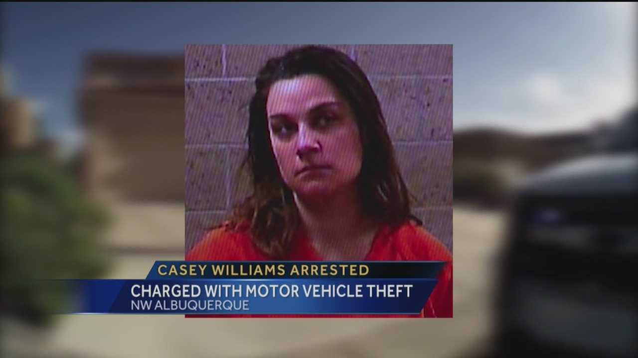 The women once accused of causing a crash hat badly injured a Corrales officer, is in trouble yet again.
