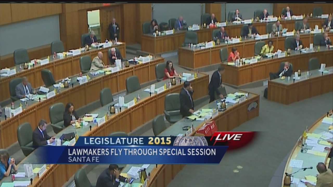 New Mexico lawmakers have wrapped up a special session. Reporter Kirsten Swanson has the story.