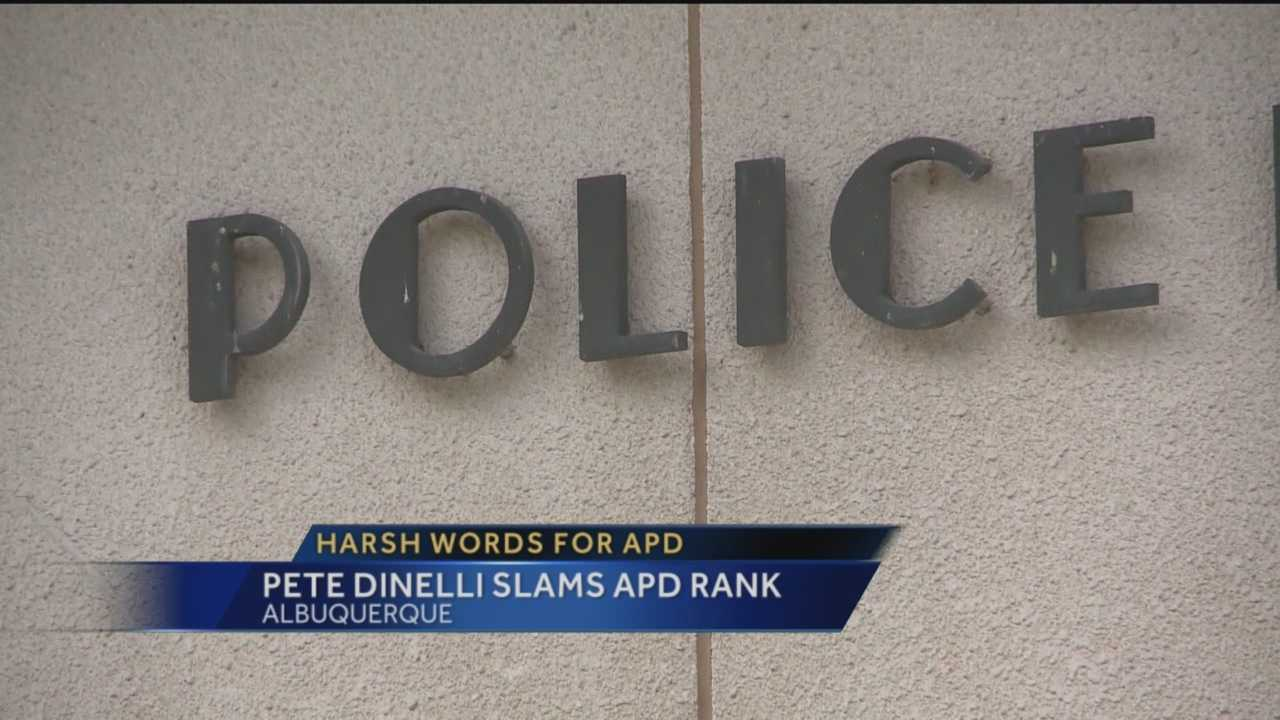 The city's former Chief Public Safety Officer has harsh words for dozens of Albuquerque police officers.