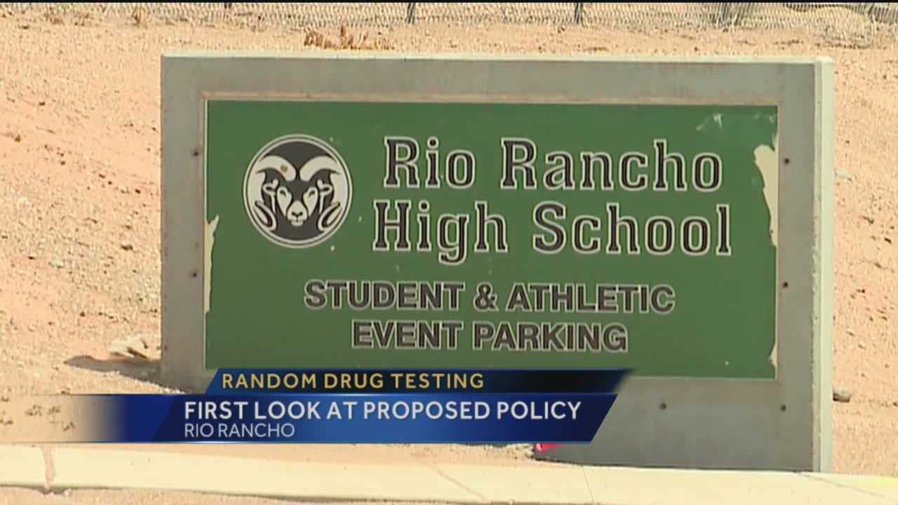 Rio Rancho Public Schools has unveiled their first draft of a random drug testing policy that could be implemented for athletes within the district by the next school year.