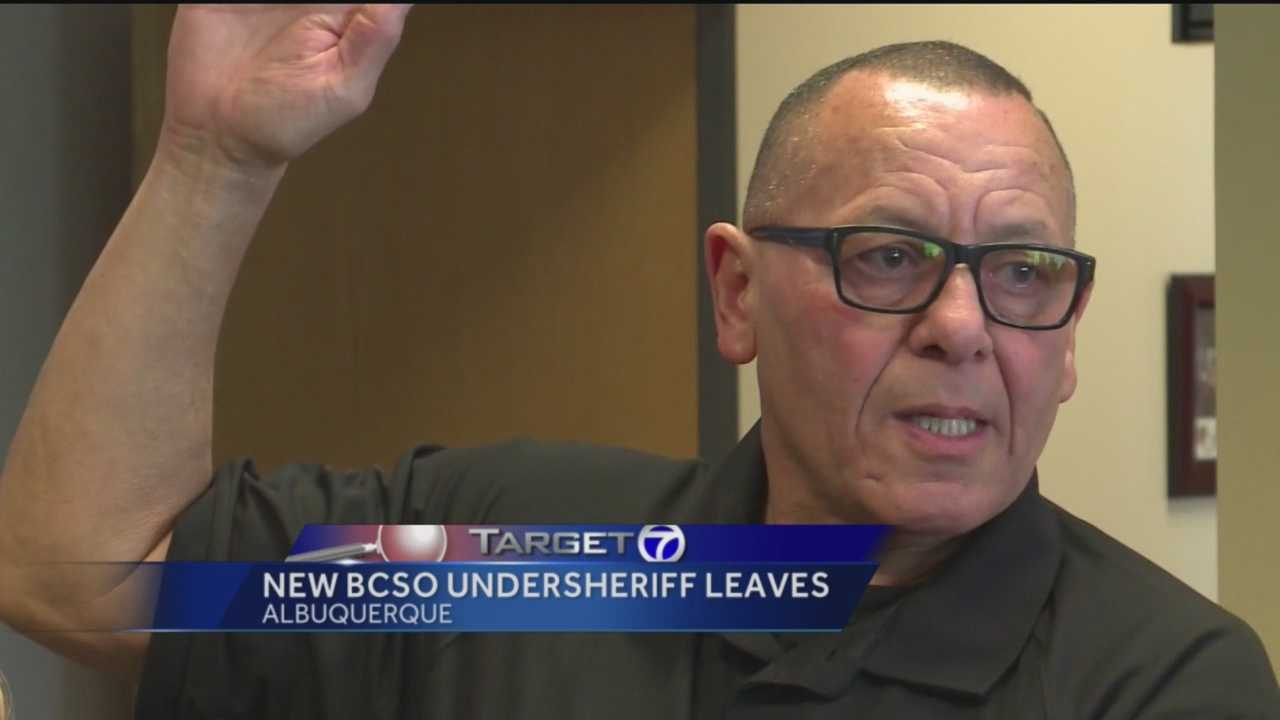 Why did Bernalillo County's new undersheriff suddenly resign?