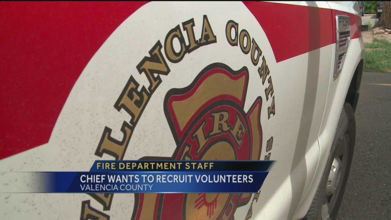 The Valencia County Fire Department relies heavily on volunteers, but it's struggling to recruit right now.