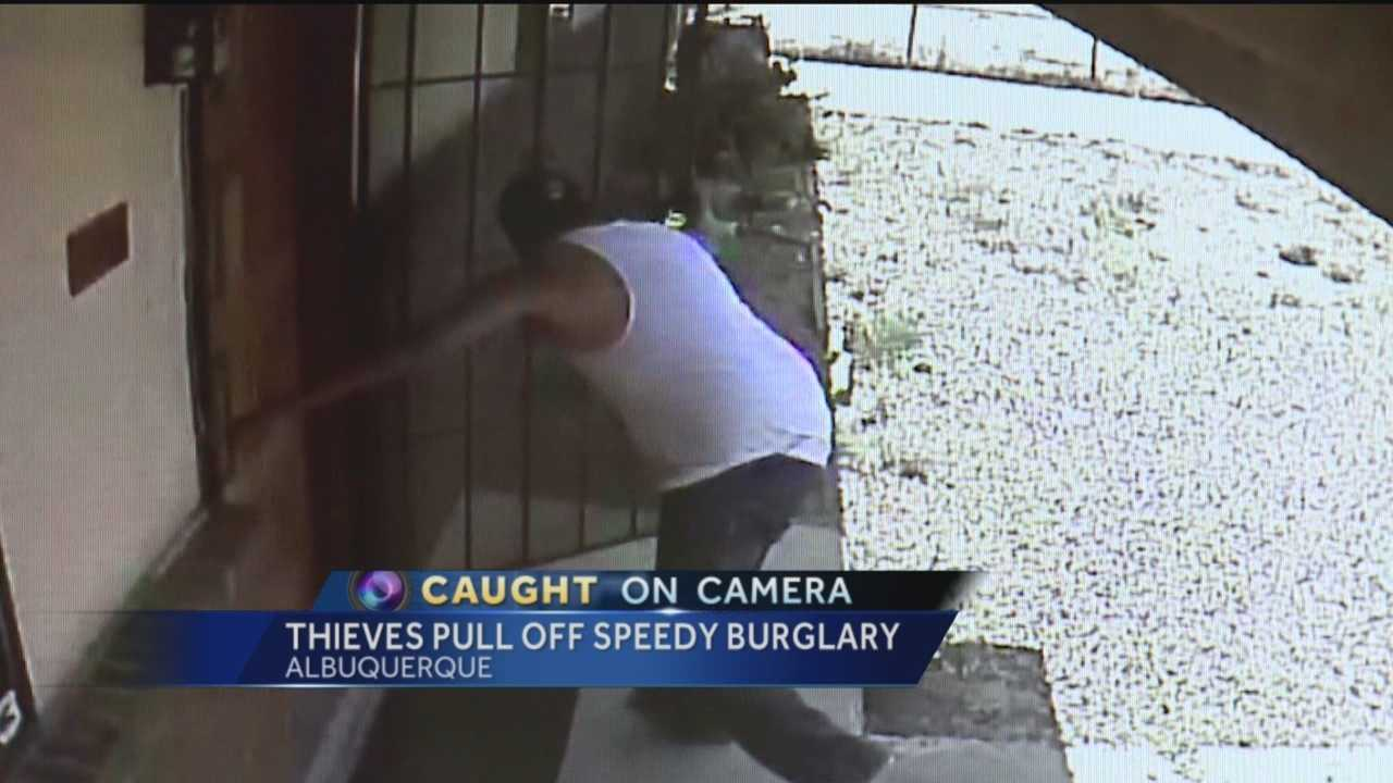 Albuquerque police are investigating a home burglary that was committed in less than 10 minutes.