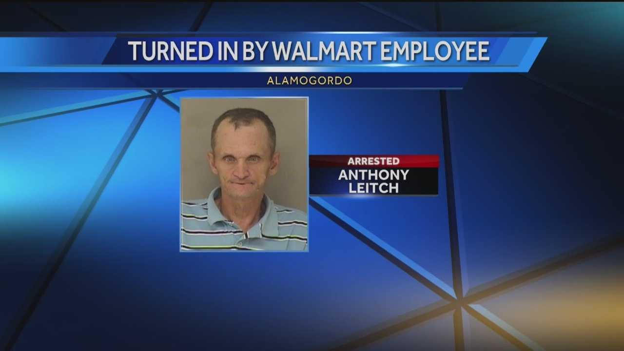 Police said an alert store worker led to the arrest of a 45-year-old man.