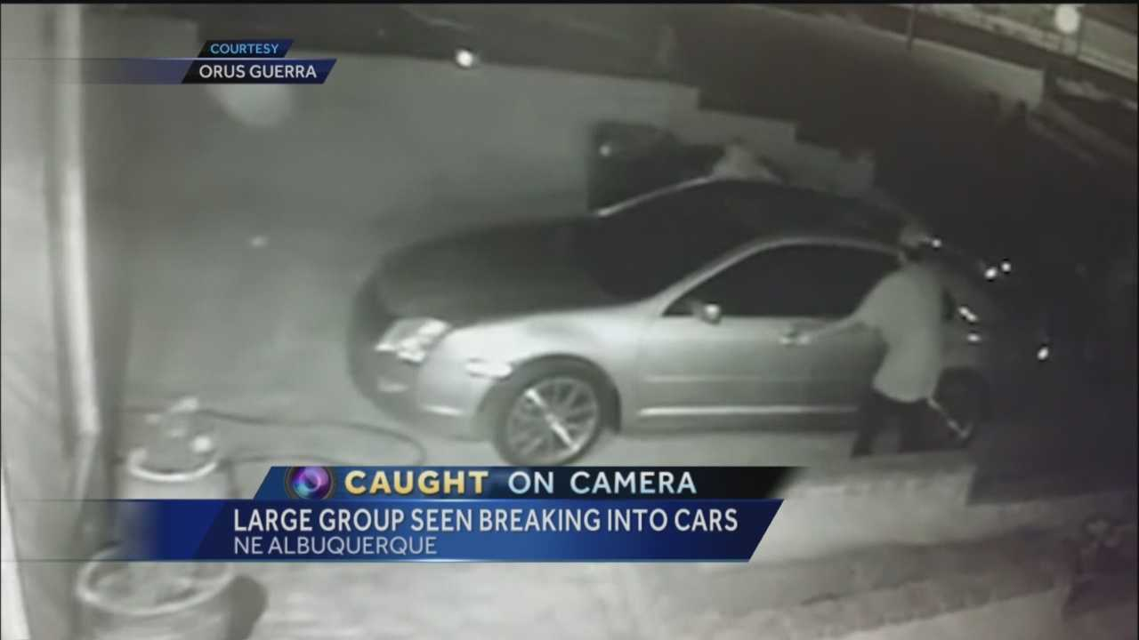 A concerned neighbor in Albuquerque's northeast heights is warning his area about a group of thieves who burglarized several cars last week.