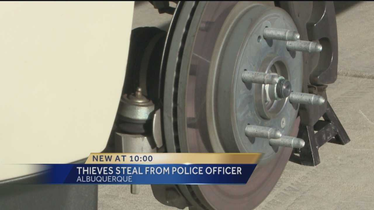 Even Police Officers like Jeremy Romero are not safe from thieves.