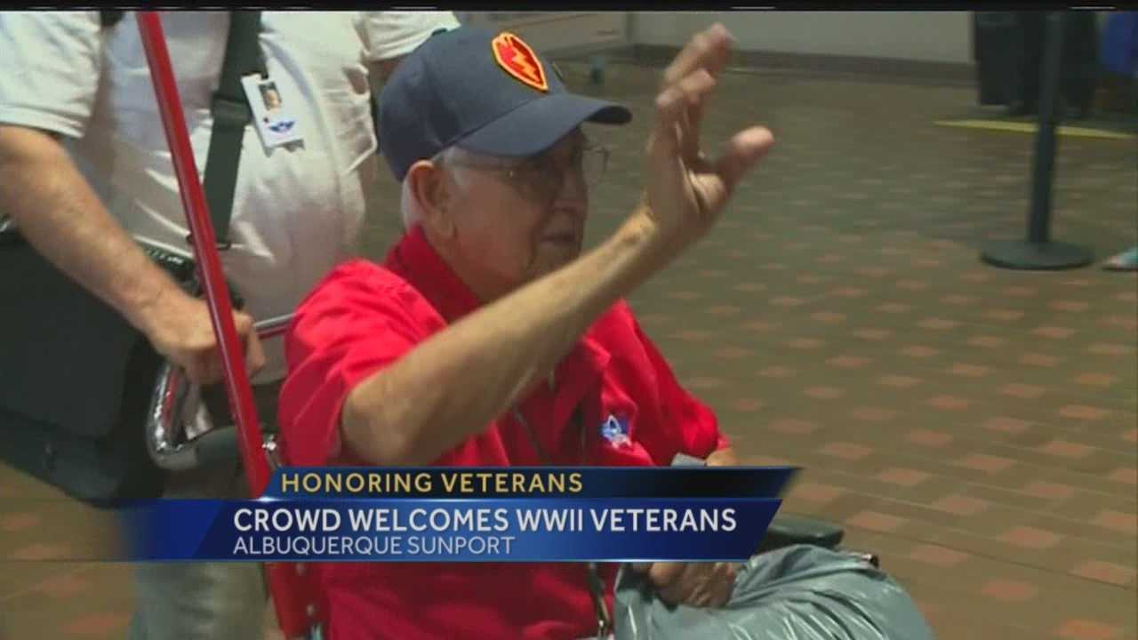 After a whirl-wind weekend in our nation's capital, dozens of World War II veterans received a big welcome home Friday.