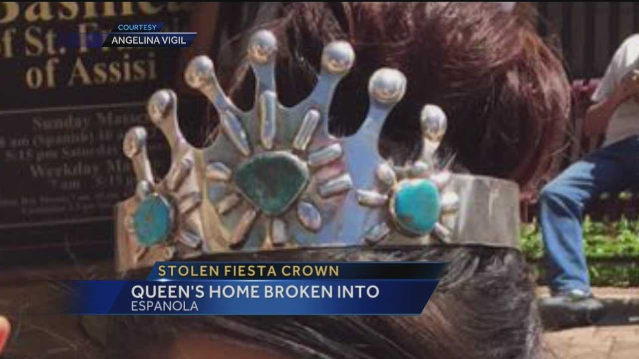 Burglars broke into a New Mexico fiesta queen's home and stole her crown and scepter Tuesday night.
