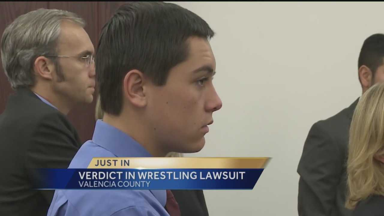 We learned late Friday afternoon that a jury is not awarding money to the teen who claims he suffered serious back injuries during wrestling practice.