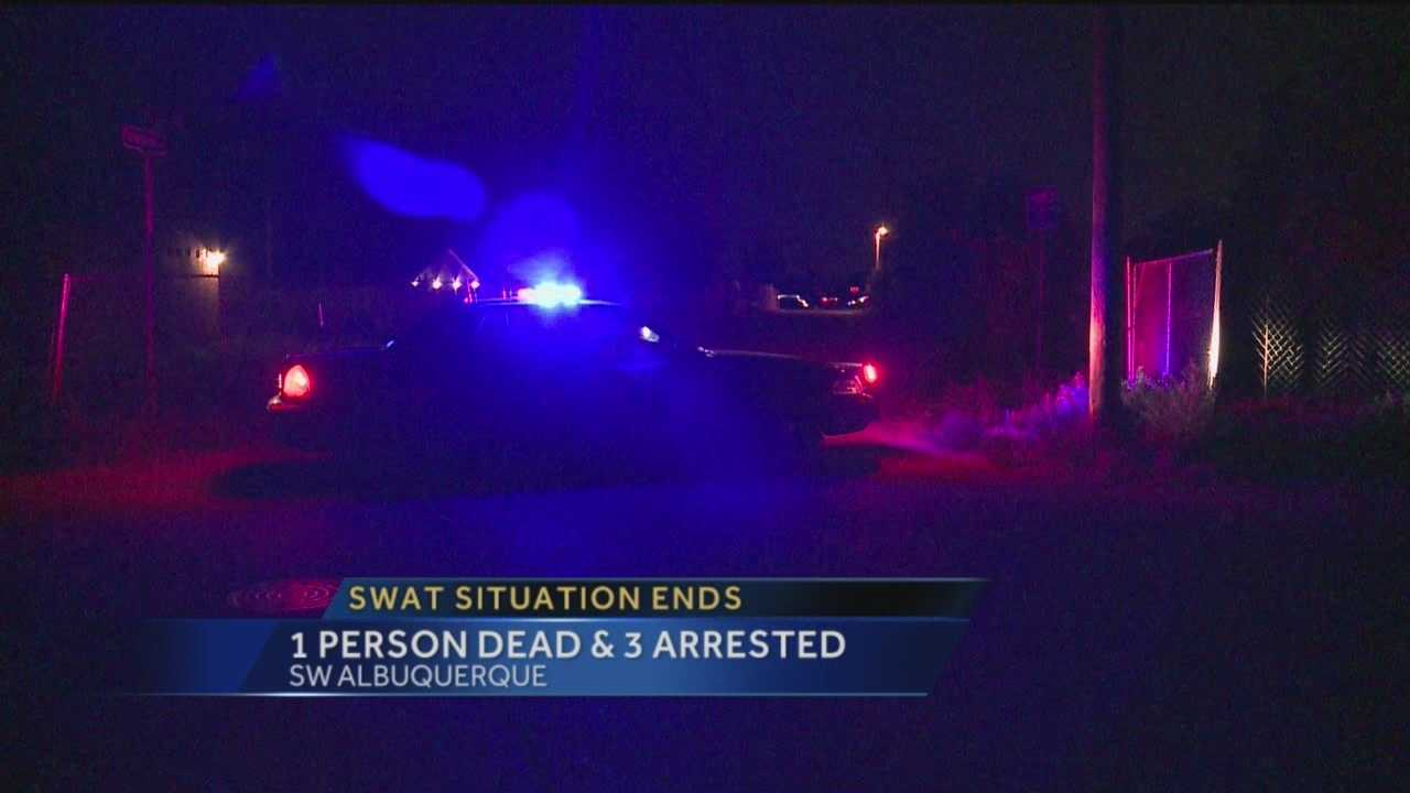 Three people were arrested after a standoff in Albuquerque overnight.