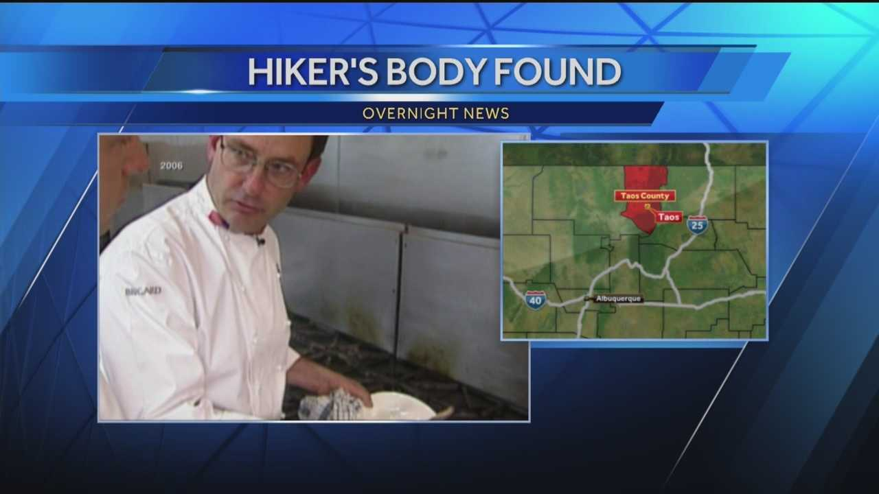 Search crews found the body of a celebrity chef missing near Taos.
