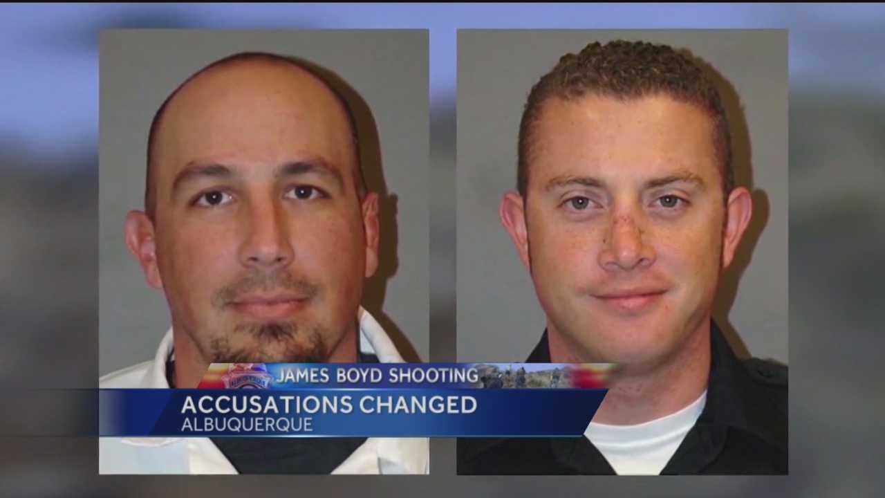 The two Albuquerque police officers accused of shooting and killing James Boyd may face second-degree murder charges.