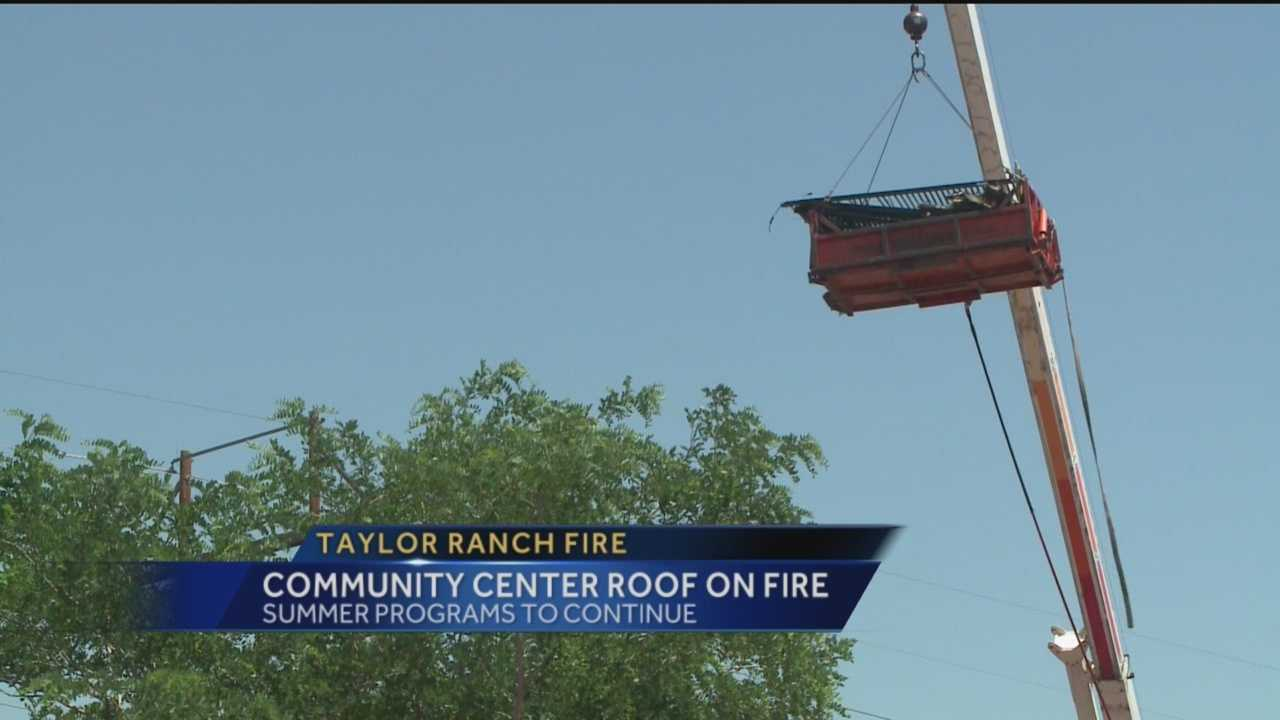 The Taylor Ranch Community Center is back open after a section of its roof caught fire.