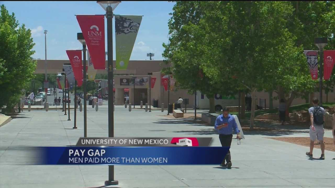 There is a pay gap of about $12,000 at the University of New Mexico between men and women who teach there.