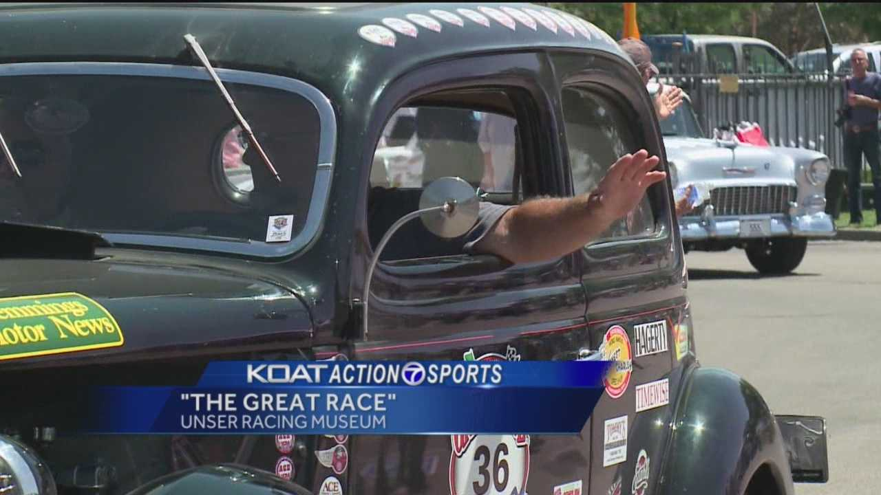 Antique cars from all over the world are traveling across the country in a competition called The Great Race.