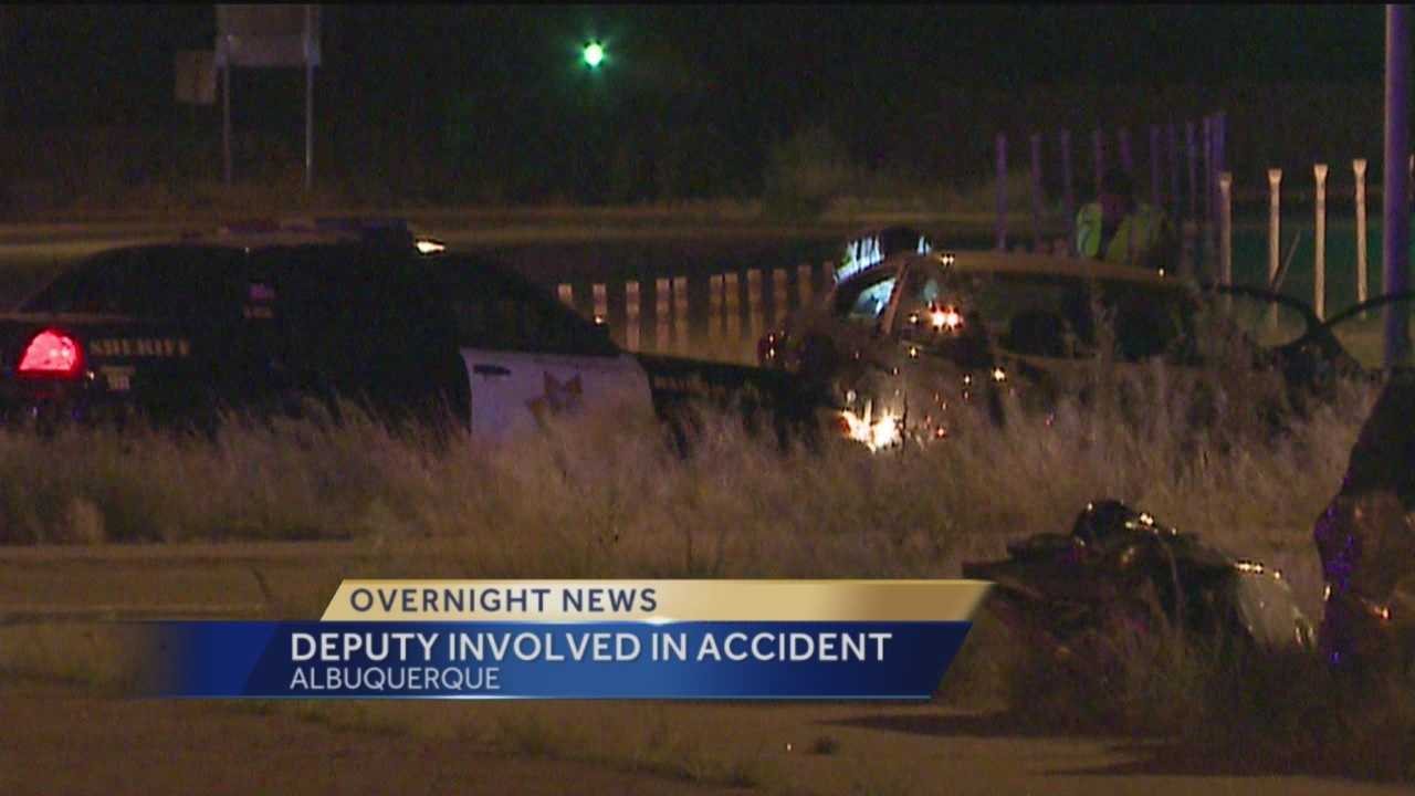 Investigators are trying to find out how a Bernalillo County deputy's car collided with another vehicle.