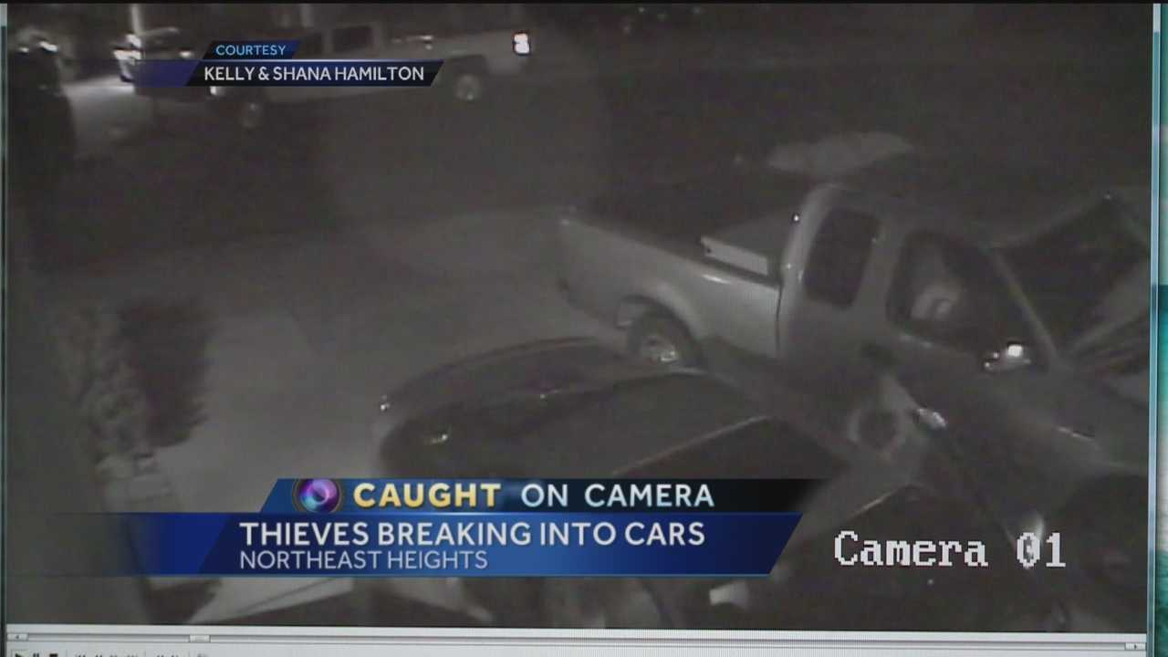 After several surveillance videos popped up showing a rash of car break-ins in Albuquerque's Northeast Heights, yet another couple has come forward, saying their vehicle was burglarized.