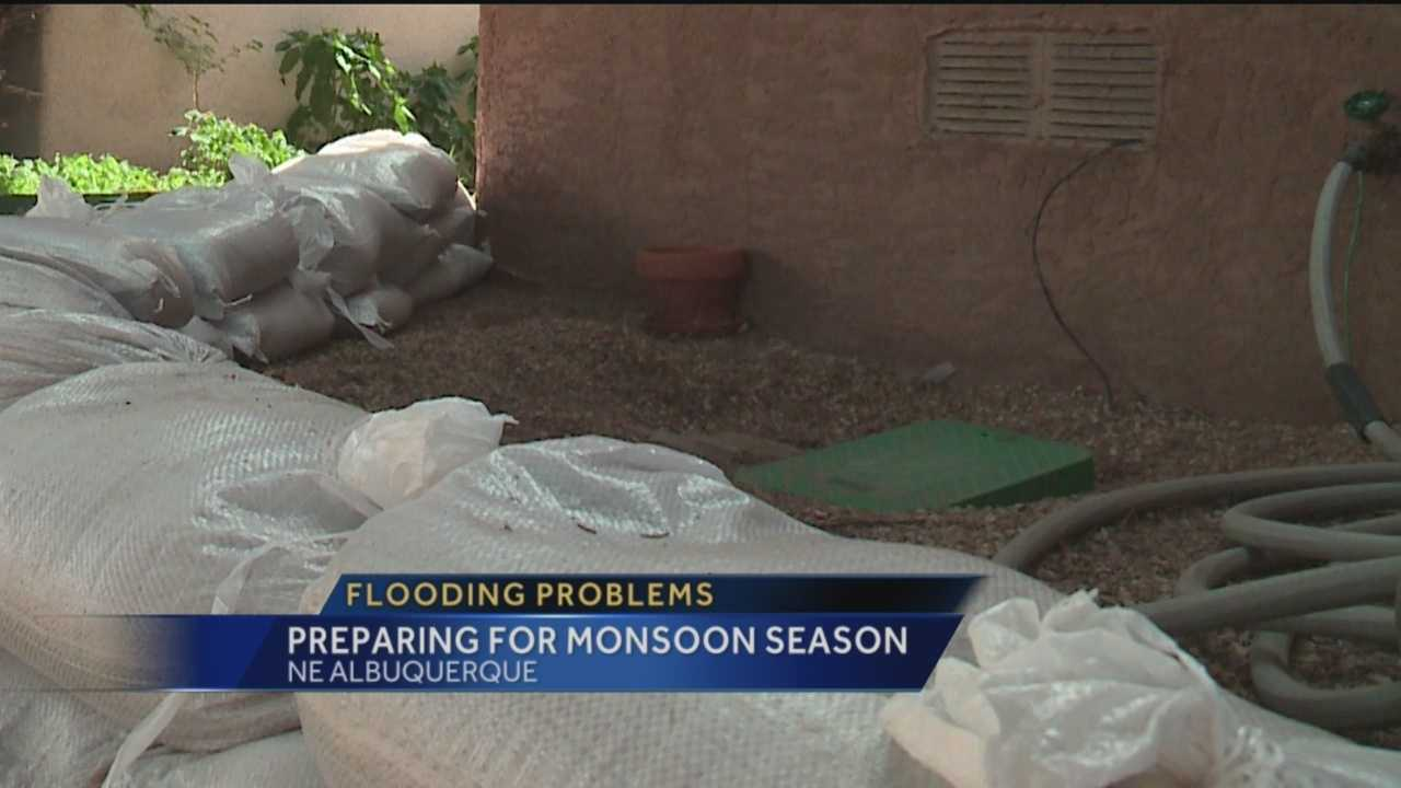 Residents in one neighborhood are preparing for what could be a bad monsoon season.
