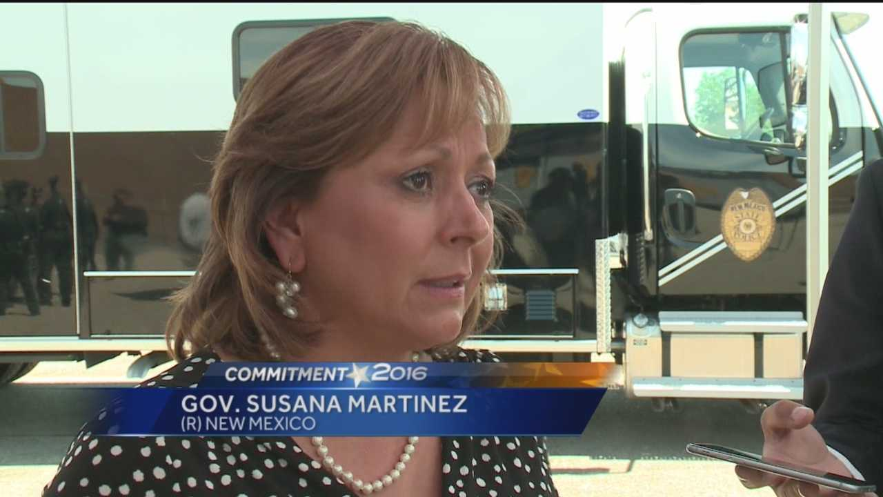 New Mexico Gov. Susana Martinez is denouncing GOP presidential hopeful Donald Trump's recent remarks about Mexican immigrants.