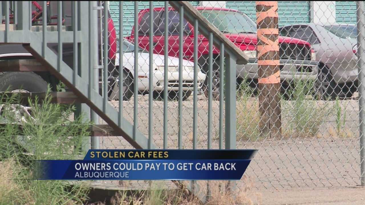 Imagine having to pay hundreds of dollars to get your stolen car back -- reporter Mike Springer has the story.