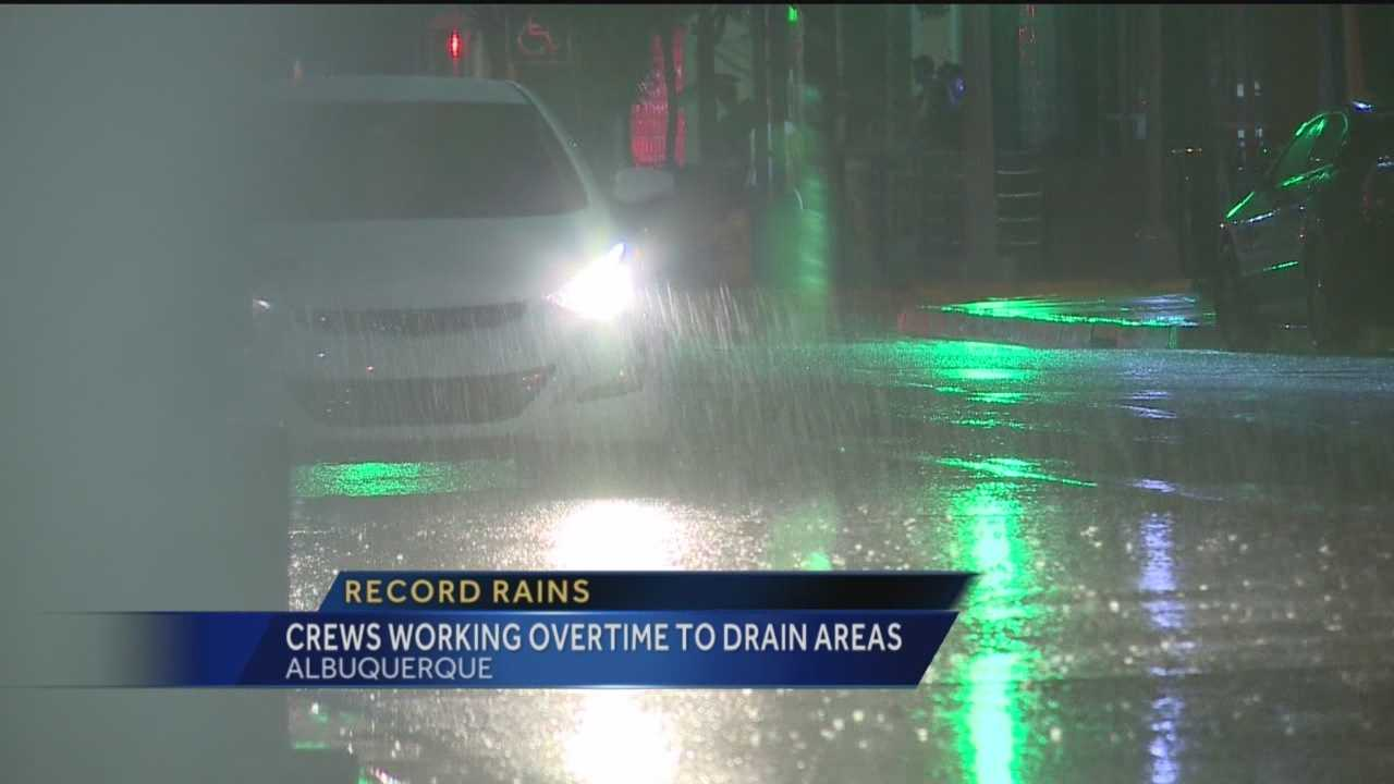 Some parts of Albuquerque just aren't built to handle record rain.