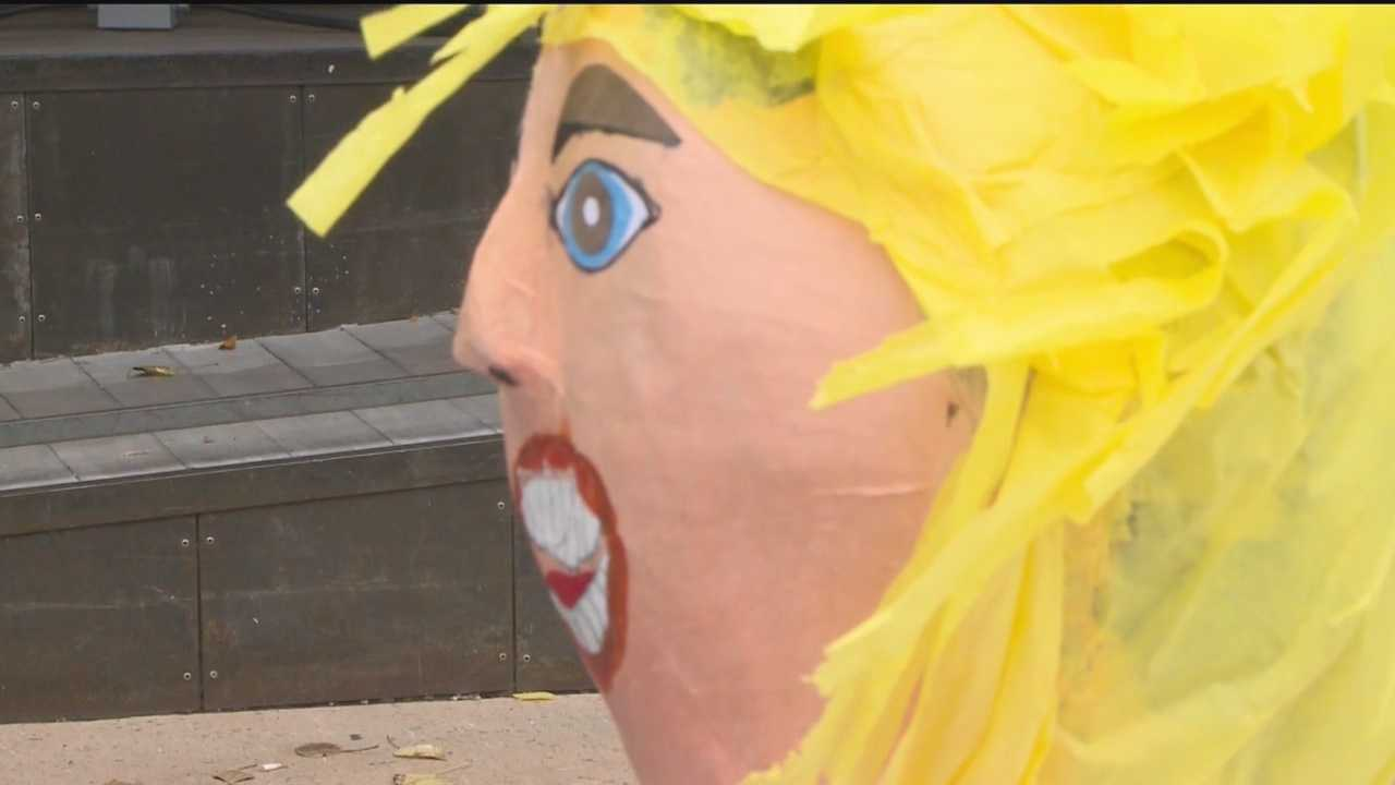 A Republican official in Santa Fe County is turning heads with his new piñata.