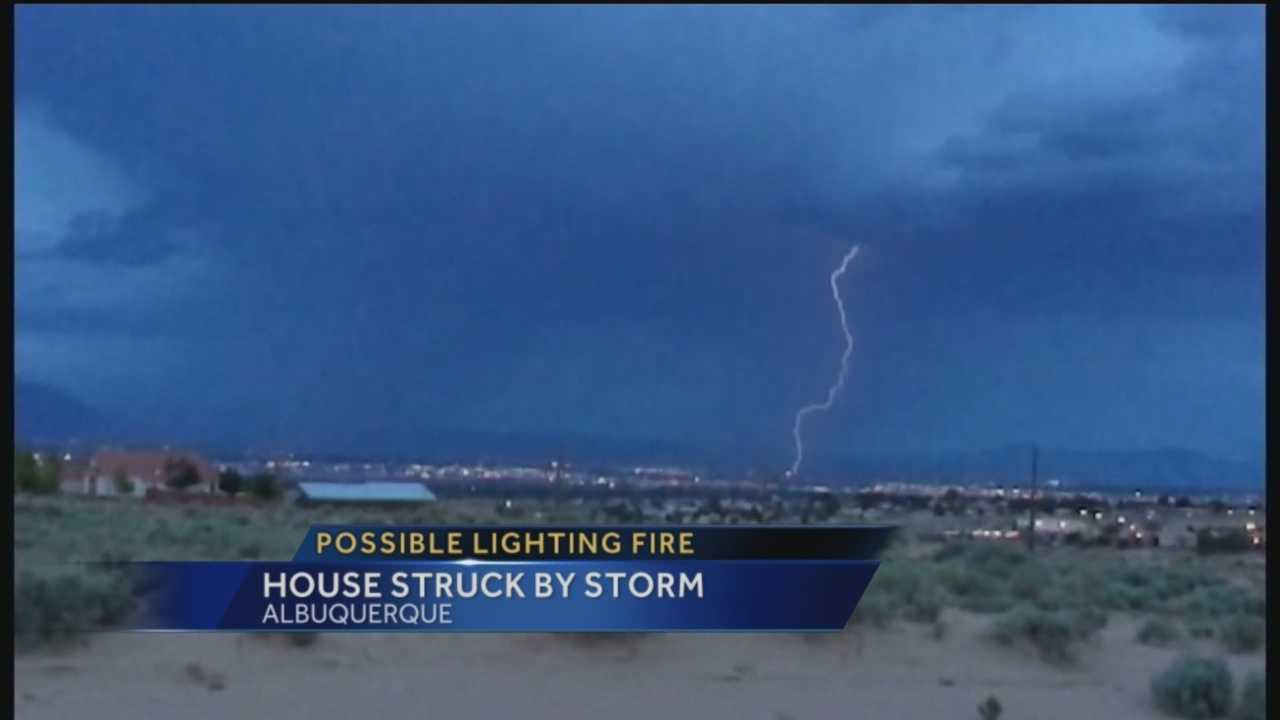 After yet another stormy night in the Albuquerque metro, one family got a big scare.