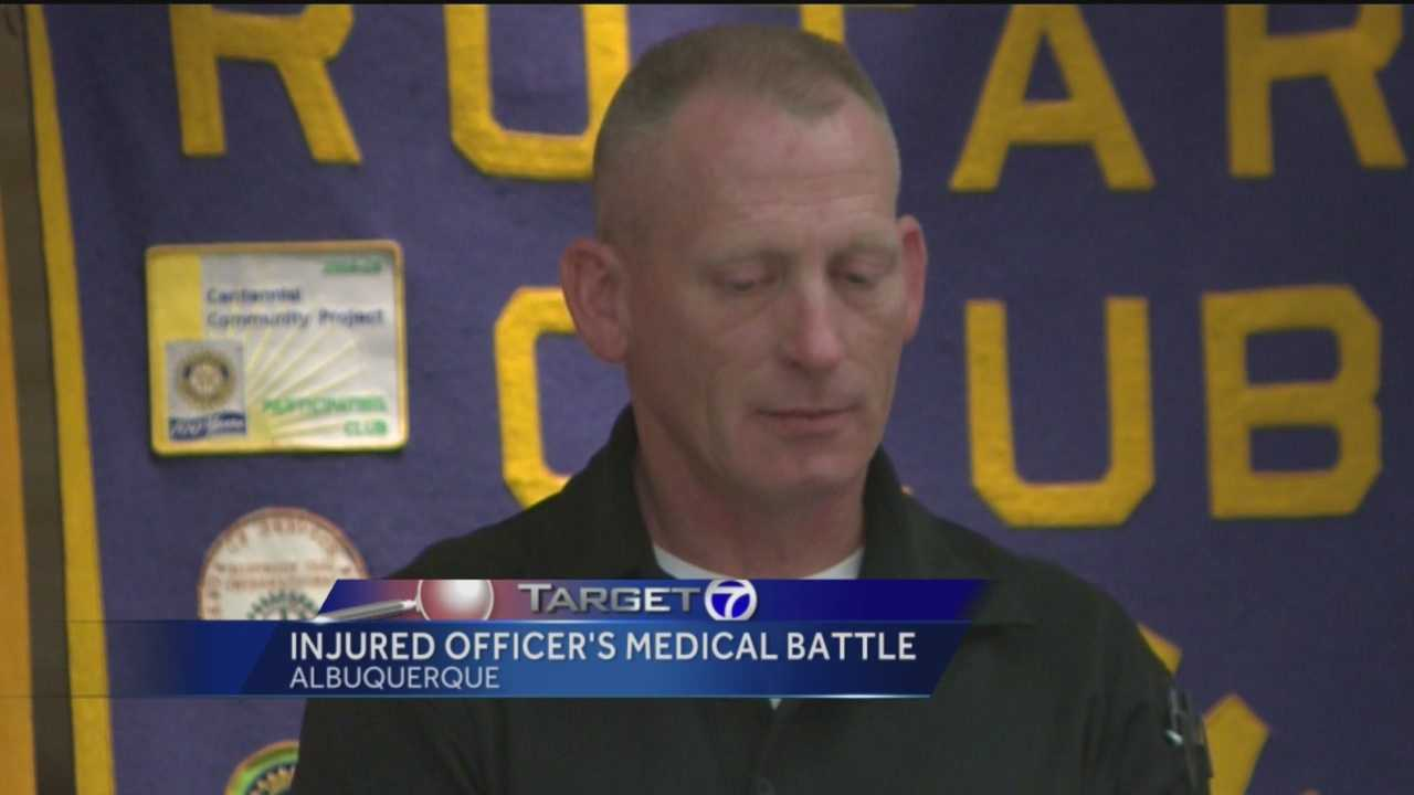 A veteran cop shot four times in the line of duty wants to get back out on the streets, serving the community.
