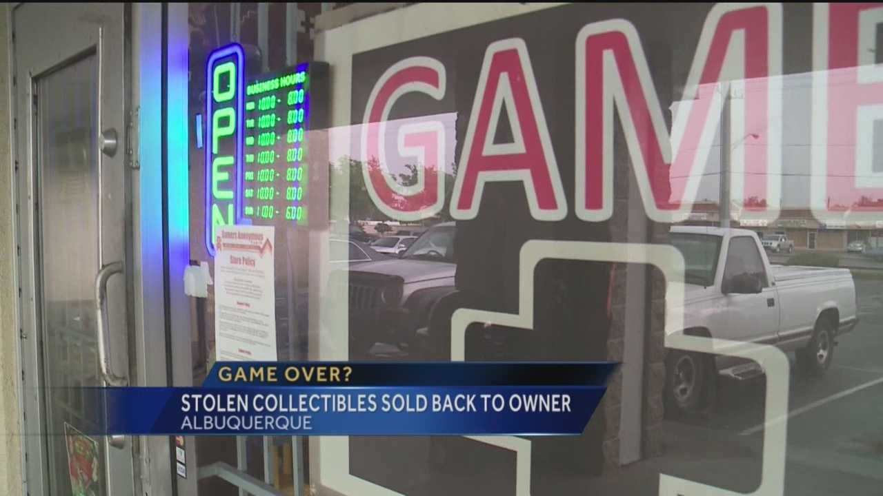 An Albuquerque video game store owner found himself in a wild set of circumstances after rare video game collectibles were stolen from his mailbox, then sold back to him at his store.